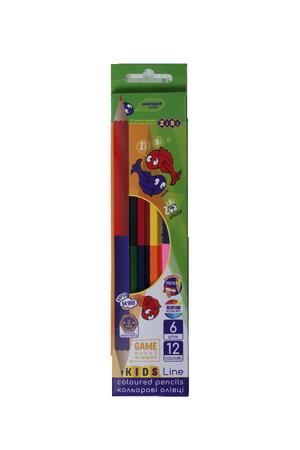 Карандаши цветные Double KIDS Line ZiBi ZB.2462