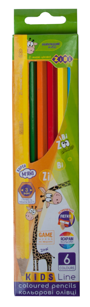 Карандаши цветные 6 KIDS LINE ZiBi ZB.2413