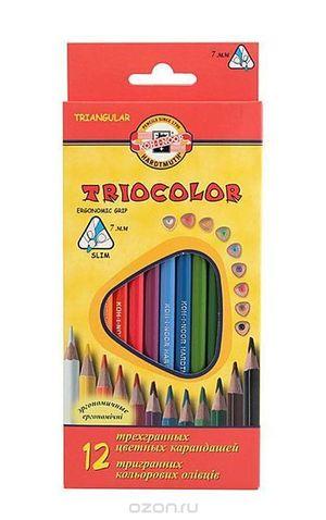 Карандаши цветные 12 Triocolor Koh-i-Noor 3132