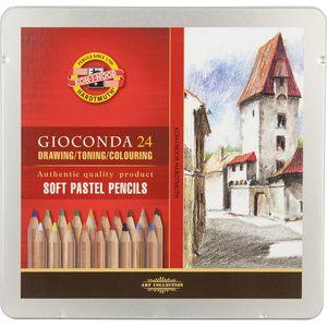 Карандаши пастельные GIOCONDA 8827 24шт метал.упаковка Koh-i-noor 8828024001PL