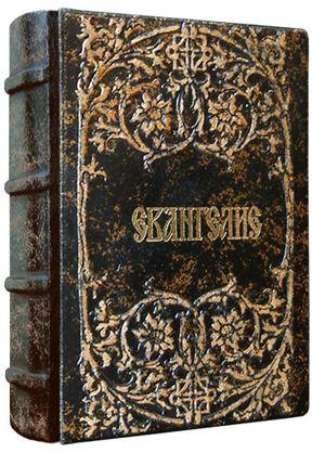 Книга Библия (7.3 х 11.2 см), натуральная кожа Евангелие Foliant EG537