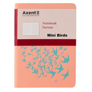 Книга записная Partner Soft Mini А6 80л клетка Axent 8302-A