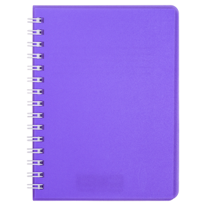 Книжка записная на пружине BRIGHT А6, 60 листов, клетка, пластиковая обложка BUROMAX BM.24654155