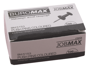 Кнопки-гвоздики цветные Buromax BM.5153