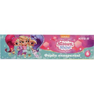 Краски акварельные 6 цветов Shimmer&Shine Kite SH18-040