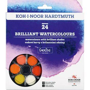 Краски акварельные сухие бриллиант. оттенки 24 цв Koh-i-noor 1745