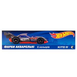 Краски акварельные в карт. упаковке Hot Wheels 6 цветов Kite HW19-040