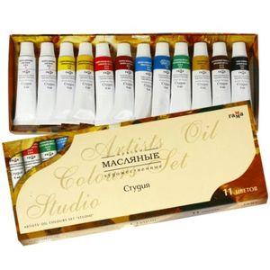 Краски масляные Гамма Студия 12 цветов 9 мл в карт.упаковке 203007