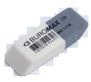 Ластик с абразивной частью белый 41*14*8mm Buromax BM.1118