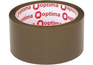 Лента клейкая упаковочная Extra 48мм*50м*43мм Optima коричневая