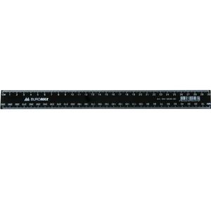 Линейка пластиковая 30см Buromax BM.5830-30 черная
