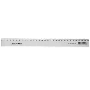 Линейка пластиковая 30см Buromax BM.5829-30 прозрачная
