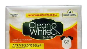 Мыло DURU Clean&White хозяйственное белое для детского белья 4*125г 0151247