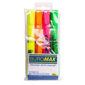 Набор из 4-х текст-маркеров, 1-4.6 мм BUROMAX BM.8906-94