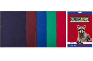 Набор цветной бумаги А4, 80г/м2, DARK, 5 цветов, 50 листов, BUROMAX BM.2721450-99