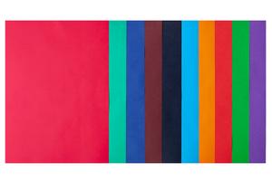 Набор цветной бумаги А4, 80г/м2, DARK+INTENSIVE, 10 цветов, 50 листов BUROMAX BM.2721950-99