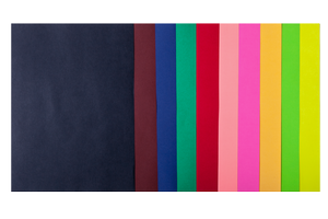 Набор цветной бумаги А4, 80г/м2, DARK+NEON, 10 цветов, 20 листов BUROMAX BM.2721020-99