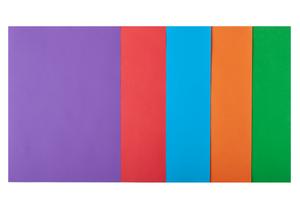 Набор цветной бумаги А4, 80г/м2, INTENSIVE, 5 цв., 20 листов BUROMAX BM.2721320-99