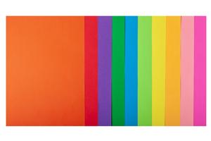 Набор цветной бумаги А4, 80г/м2, NEON+INTENSIVE, 10 цветов, 20 листов BUROMAX BM.2721820-99