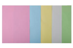 Набор цветной бумаги А4, 80г/м2, PASTEL, 5 цв., 50 листов BUROMAX BM.2721250-99