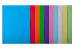 Набор цветной бумаги А4, 80г/м2, PASTEL+INTENSIV, 10цв., 50 листов BUROMAX BM.2721650-99