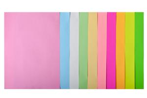 Набор цветной бумаги А4, 80г/м2, PASTEL+NEON, 10 цветов, 20 листов. BUROMAX BM.2721720-99