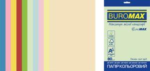 Набор цветной бумаги Euromax А4, 80г/м2, PASTEL INTENSIVE, 10 цветов, 20 листов BUROMAX BM.2721620E-99