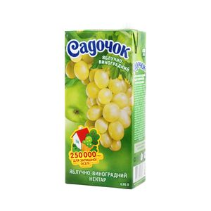 Нектар Садочок яблочно-виноградный 0,95л 10498765
