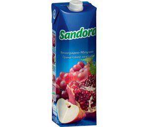 Нектар Sandora виноградно-яблочно-гранатовый 0,95л 10719481