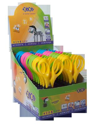 Ножницы детские 128 мм с 3-D ручками KIDS Line ZiBi ZB.5021 (ассорти)