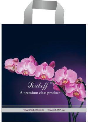 Пакет с петлевой ручкой 45*43+3см/100 Орхидея фиолетовая (25 шт) 0170193