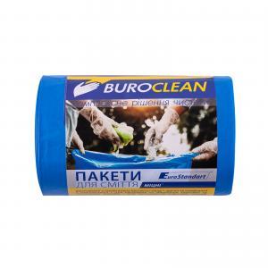 Пакеты для мусора EuroStandart крепкие, синие, 60 л, 40 шт, BuroClean, 10200037