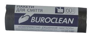 Пакеты для мусора Eurostandart плотные черные, 60 л, 20 шт, BuroClean, 10200032