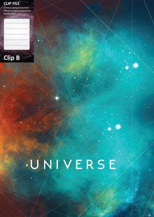 Папка А4 с боковым прижимом CLIP В Universe Optima O31271 ассорти