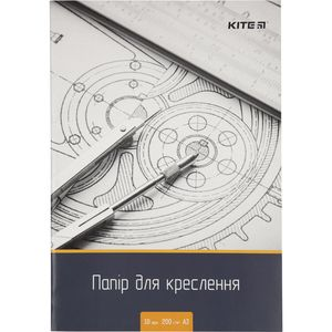 Бумага для черчения А3 10 листов 200г/м2 Kite K18-270
