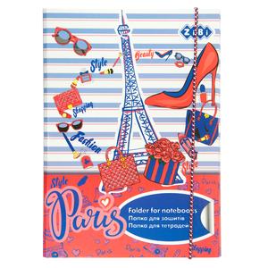 Папка для тетрадей B5+ PARIS картонная на резинке Zibi ZB17.14962