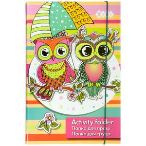 Папка для труда А4+ OWLS картонная на резинке Zibi ZB17.14910