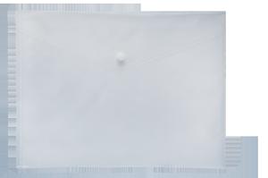Папка-конверт А4 на кнопке Buromax BM.3927 ассорти
