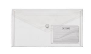 Папка-конверт на кнопке DL (240x130мм) TRAVEL Buromax BM.3938-00