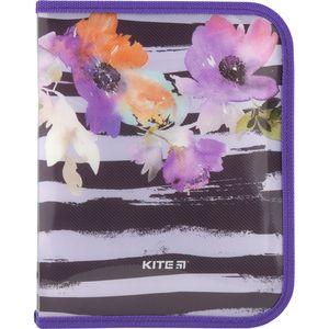 Папка на молнии Flowers B5 Kite K18-203-2