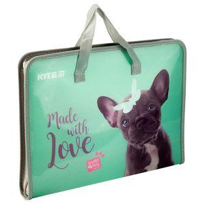 Папка-портфель на молнии А4 Studio Pets Kite SP19-202