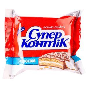 Печенье Супер-Контик с кокосом в молочном шоколаде 50г 10159827