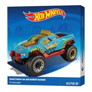 Пластилин восковой 12 цветов Hot Wheels Kite HW19-1086