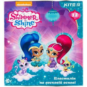Пластилин восковой 12 цветов Shimmer&Shine Kite SH18-1086
