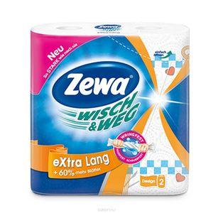 Полотенца бумажные ZEWA Wisch & Weg 2 рулона белые целлюлоза с рисунком 0129314