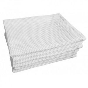 Полотенце вафельное 45*70см белое 0129953