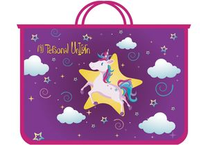 Портфель пластиковый на молнии My Unicorn CF30001-04