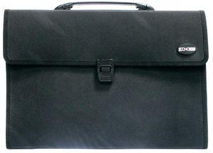 Портфель В4 с тканевой окантовкой, 3 отделения Economix E31611