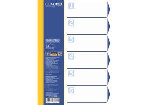 Разделитель листов А4 пластик 6 разделов цветной Economix E30806