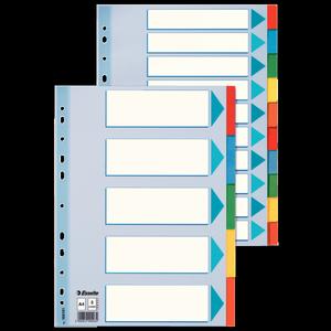Разделители из цветного картона A4 5 листов Esselte 100191
